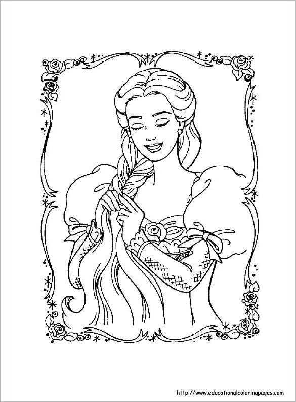 barbie princess coloring page for you