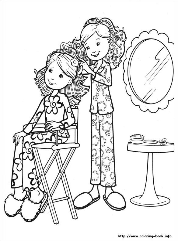 astonishing girls coloring page for free