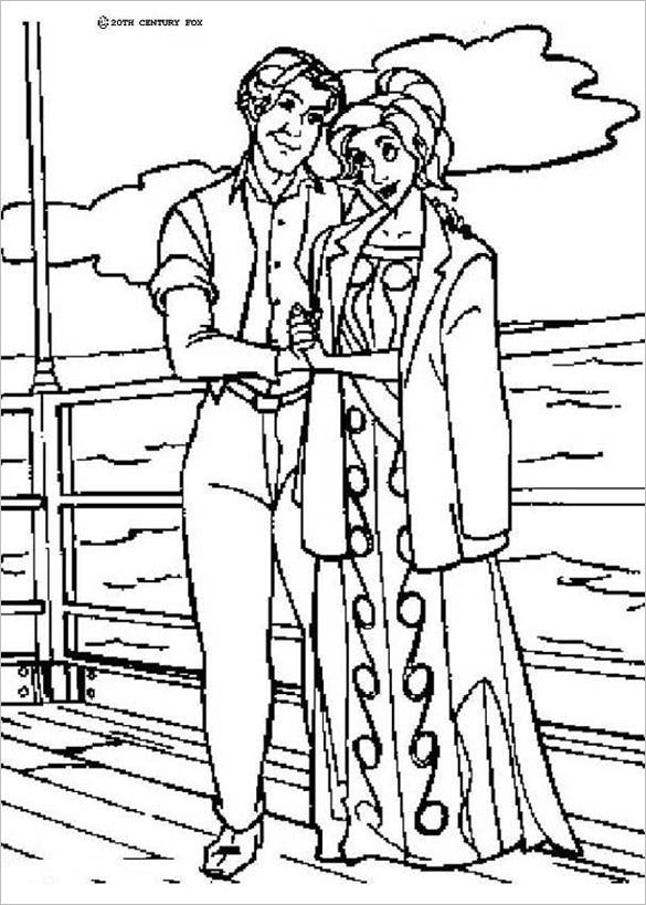 Lovely Couple Anastasia And Dimitri Coloring Page