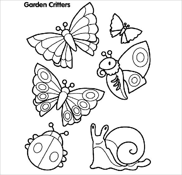 garden critters coloring page for you