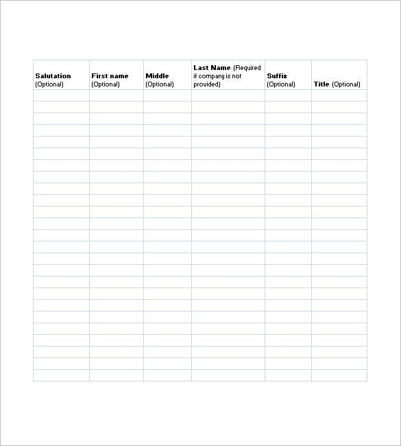Doc527679 Attendee List Template Doc600730 Attendee List – Attendees List Template