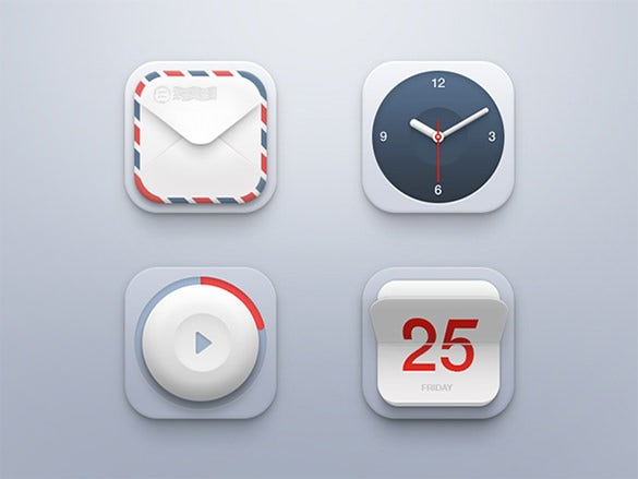 creative clock icons collection
