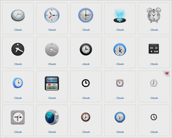 amazing clock icons set