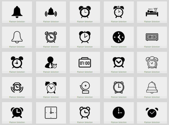 multiple clock icons set to download