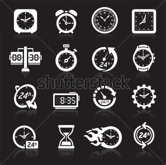 creative clock icons collection for vector