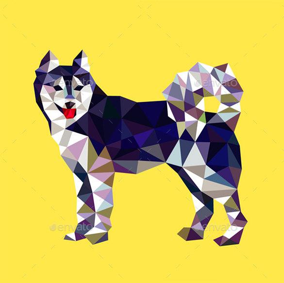 amazing fox geometric animal logo for premium