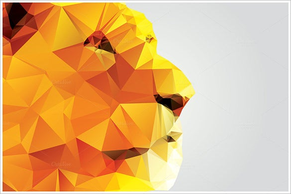 awesome premium geometric polygon lion