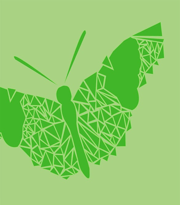beautiful free geometric butterfly logo for you