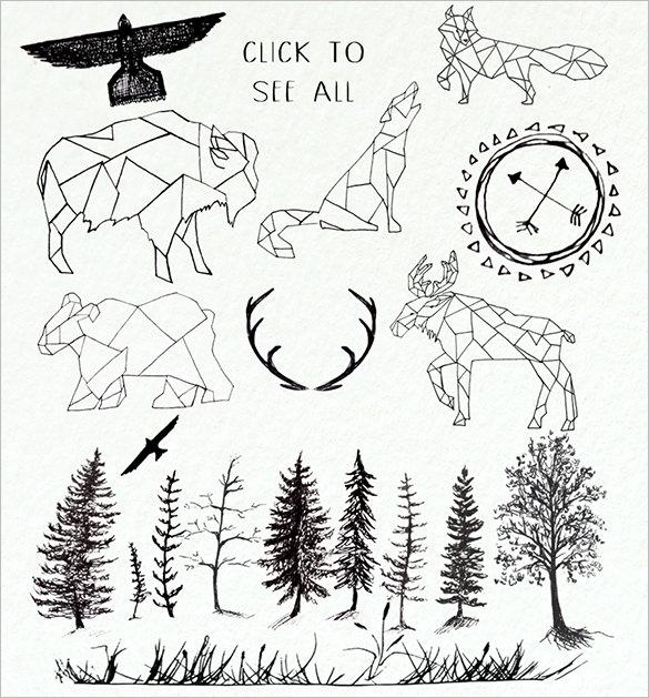 37 astonishing vector geometric animal logos