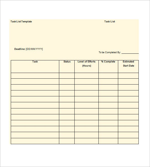 priority list template