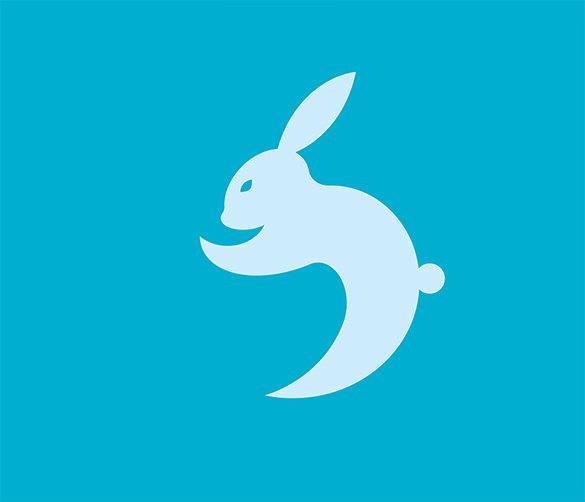 fabulous free rabbit geometric logo for you
