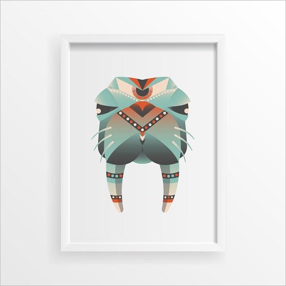 best free geometric animal logo download
