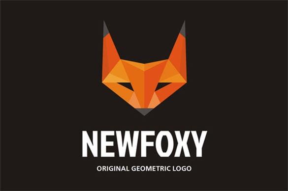 premium newfoxy geometric style animal logo