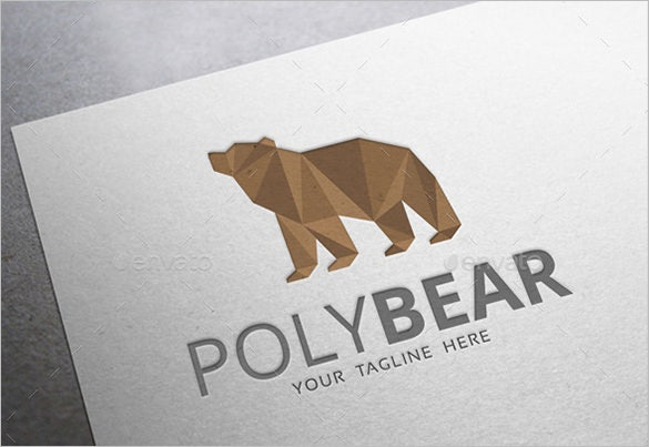 premium geometric bear logo for download