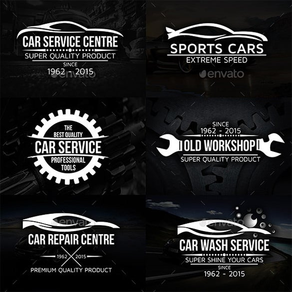 amazing premium cars logos and badges set