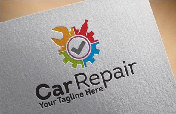 awesome car repair logo premium download