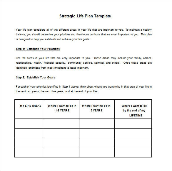 Strategic Action Plan Template 9 Free Sample Example Format – Example of Action Plan