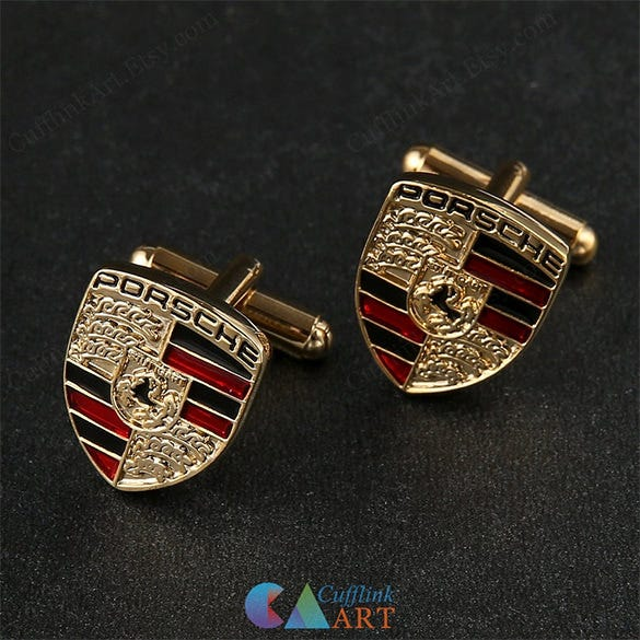 porsche cufflinks car logo for premium