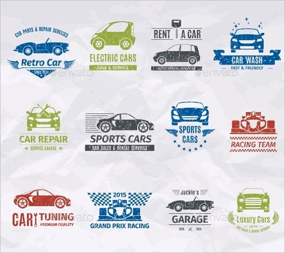 fantastic stamps of premium car logos