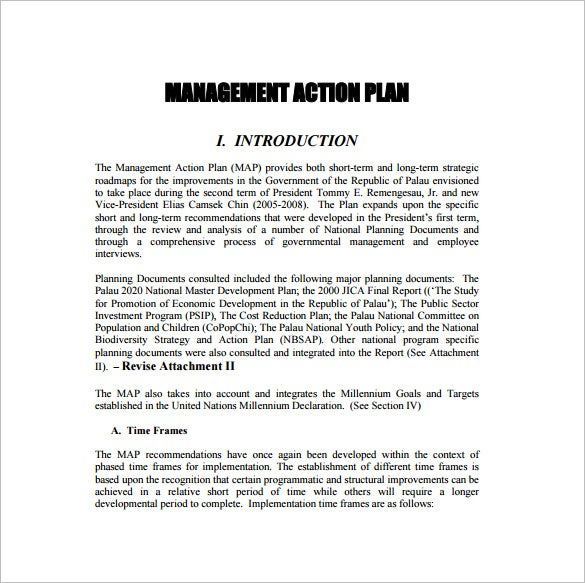 Strategic Action Plan Template – 9+ Free Sample, Example, Format