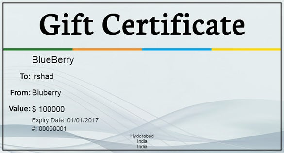 Gift certificate template 34 free word outlook pdf for Business gift certificate template