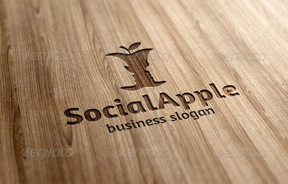 fantstic premium social apple logo for you