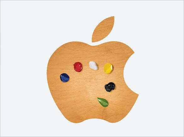 colourful apple logo free download