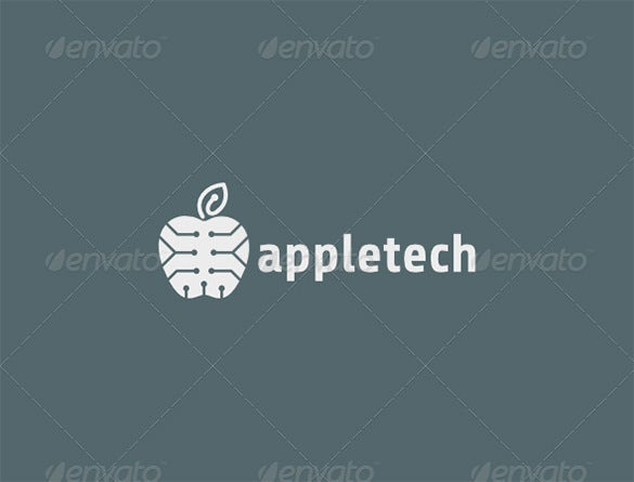 premium techonogy apple logo for you