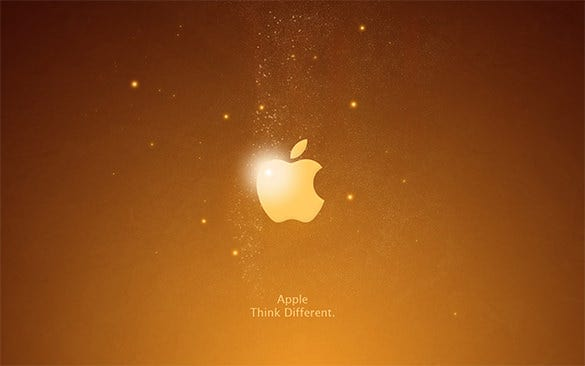 abstract free gloden apple logo for you
