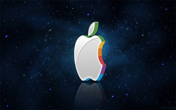 facinating 3d apple logo for free