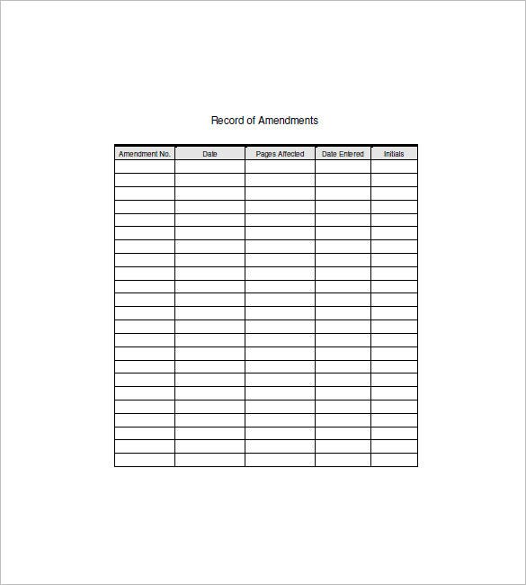 Equipment List Template - 10+ Free Word, Excel, PDF Format Download ...