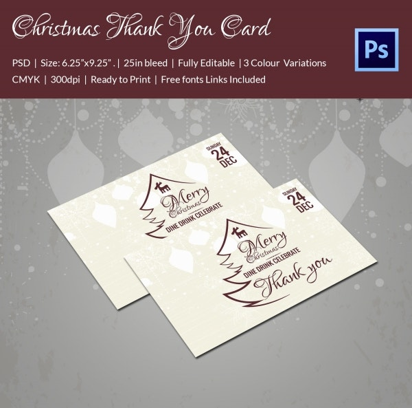40+ Christmas Thank You Card Templates - Free PSD, EPS, JPEG Format ...