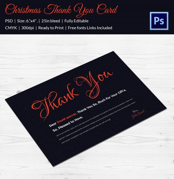 30  christmas thank you card templates