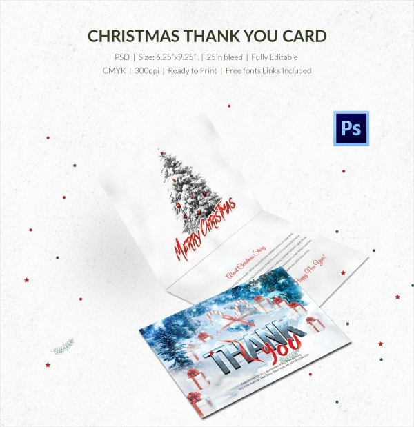 premium christmas thank you card