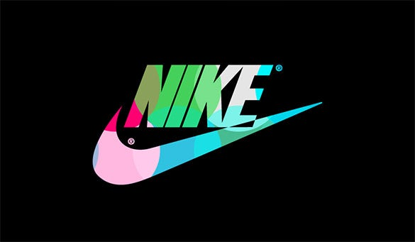 colorful nike logo for free download