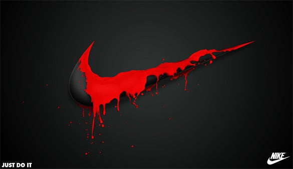 free fabulous nike spill logo