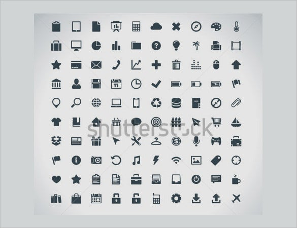 creative information icons collection