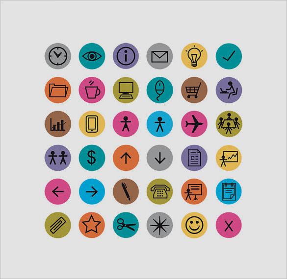 amazing information icons set