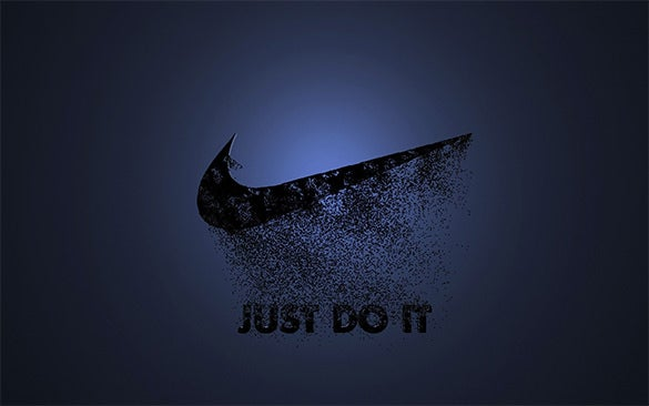 nike just do it blue logo for you