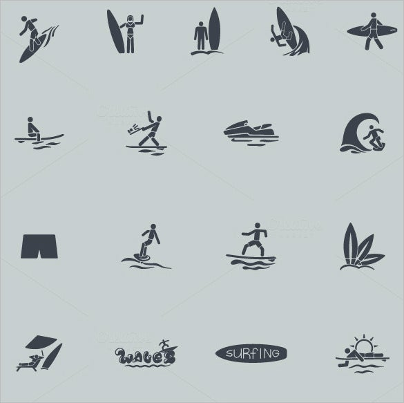 creative information icons collection to download