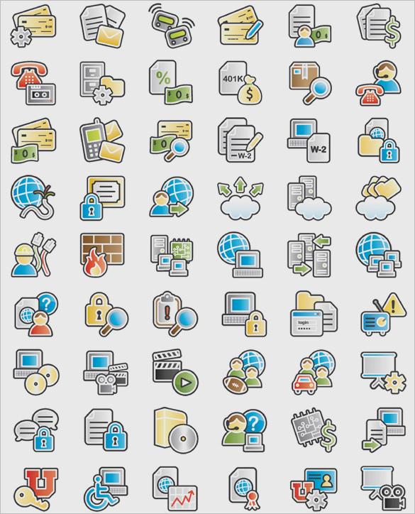 unique information icons set