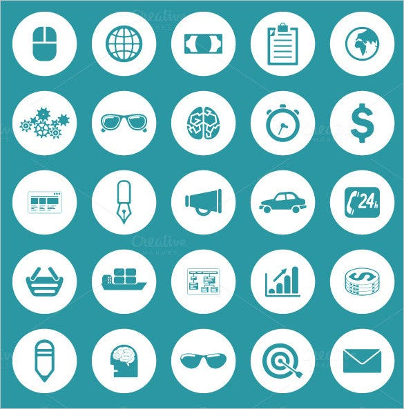awesome business information icons