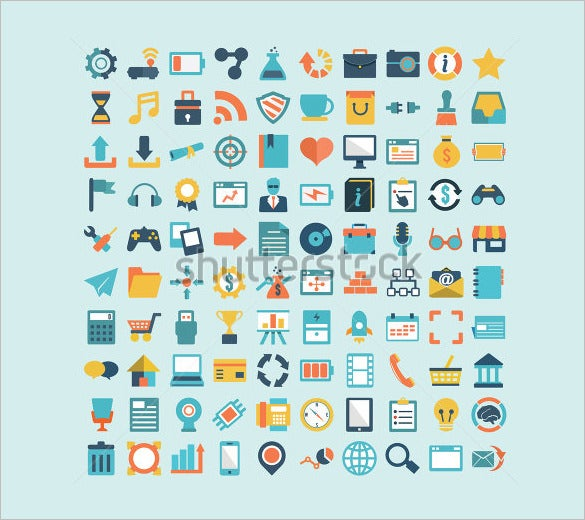 creative flat design information icons