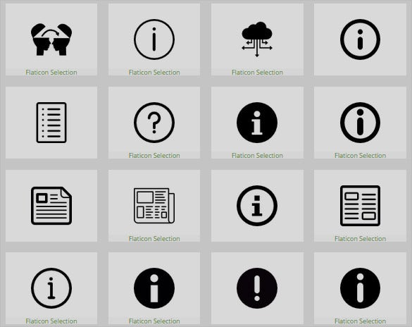 awesome information icons set