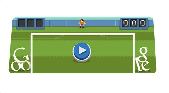 awesome soccer interactive google logo