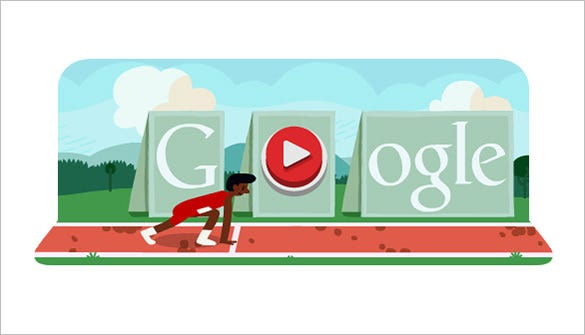 free hurdles interactive google logo