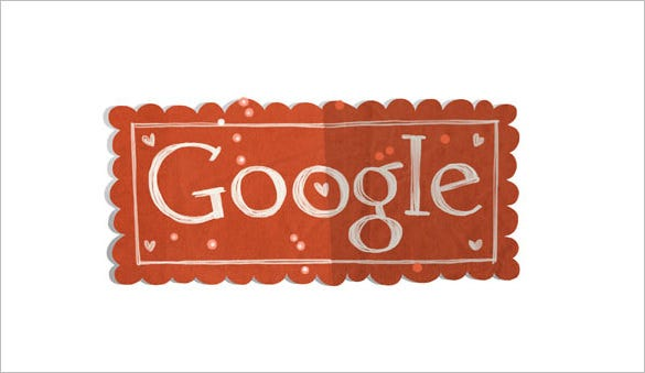 valentines day interactive google logo