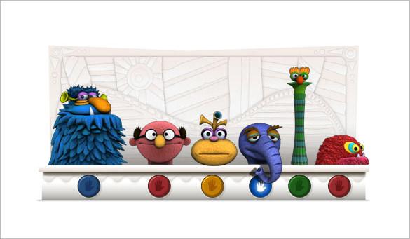 jim henson interactive google logo