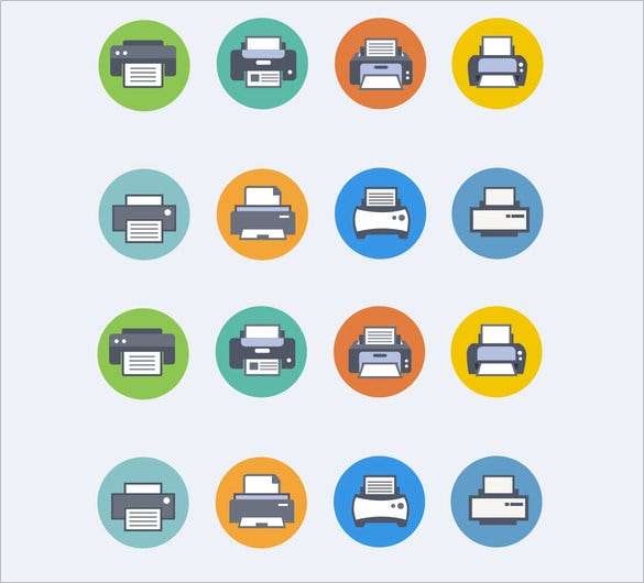 printer icons 14 psd png eps vector format download