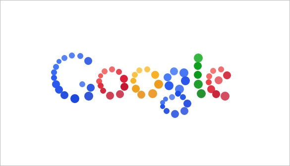 particle interactive google logo for you
